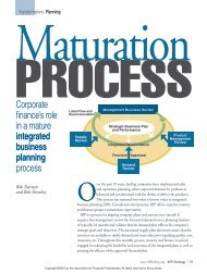 Maturation Process - Oliver Wight Americas