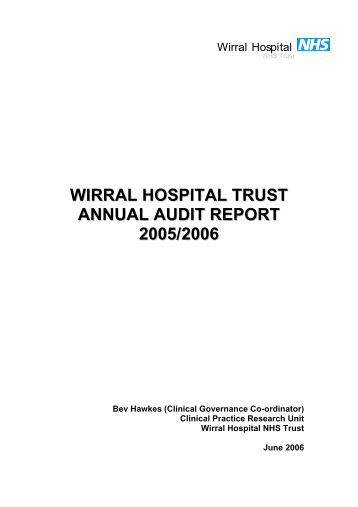 WIRRAL HOSPITAL NHS TRUST - Wirral University Teaching ...