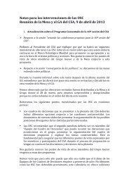 Recomendaciones de la sociedad civil para la Mesa del ... - CSM