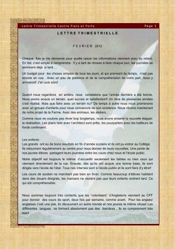Lettre Trim. Fevr 2012