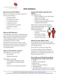 ACE Inhibitors - GPSC