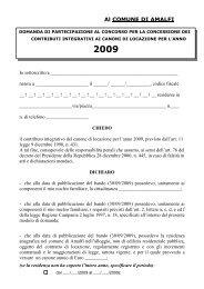 modello domanda 431 - Anno 2009 - Definitivo - Comune di Amalfi