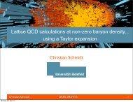 Lattice QCD calculations at non-zero baryon density... using a Taylor ...