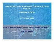 Maritime boundary - United Nations - Nippon Foundation Fellowship ...