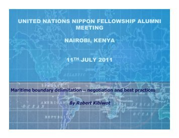 Maritime boundary - United Nations - Nippon Foundation Fellowship ...