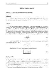 Měření hustoty kapalin Úkol č. 1: Změřte hustotu lihu pomocí ...