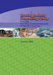 HIFG October 2008 Report - Western Australian Planning Commission