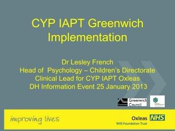 Greenwich-presentati.. - London Health Programmes