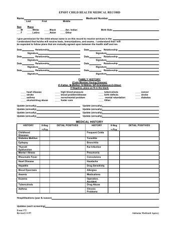 Epsdt Form Online Screening Form Unmc State Forms School Camp Op ...