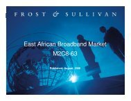 East African Broadband Market M2C8-63 - Growth Consulting - Frost ...