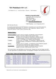 TSV Pfedelbach 1911 Jugendfussball 2013 1