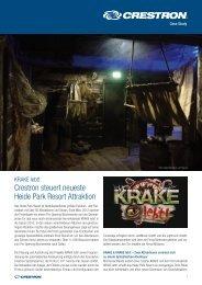 Crestron steuert neueste Heide Park Resort Attraktion