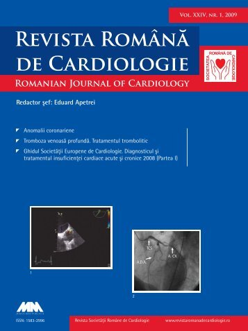 Nr. 1, 2009 - Romanian Journal of Cardiology