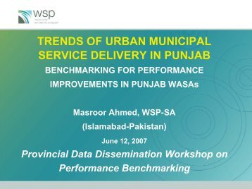 Trends of Urban Municipal servicedelivery in Punjab