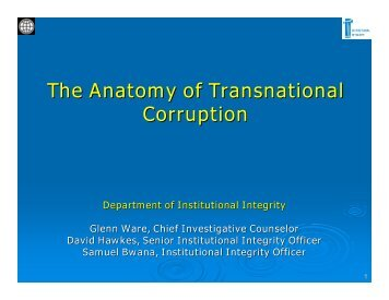 The Anatomy of Transnational Corruption The Anatomy of ...