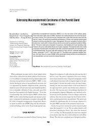 Sclerosing Mucoepidermoid Carcinoma of the Parotid Gland