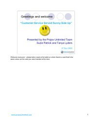 Customers Services Sunny Side Up - LAPA