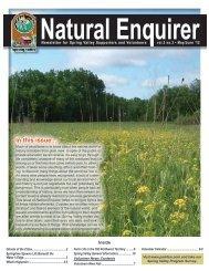 Natural Enquirer May/June 2012 - Schaumburg Park District