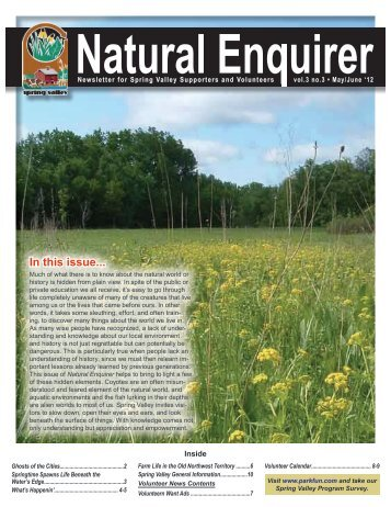 Natural Enquirer May/June 2012 - Schaumburg Park District