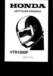 VTR1000F 1997-99 käsikirja (.pdf, 2.66 MB) - Honda