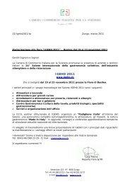 Documentazione (pdf) - Camera di Commercio Italiana per la Svizzera