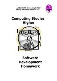 Homework - All Saints Secondary School