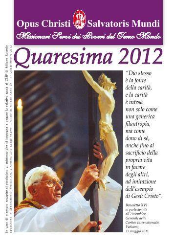 Quaresima 2012 - Misioneros Siervos de los Pobres del Tercer Mundo