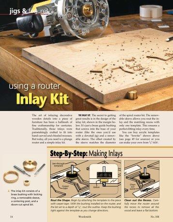 Inlay Kit - Woodsmith Woodworking Seminars