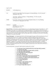 Building Survey - Facilities Management - University of Minnesota