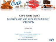 CMFS Round table 2 Managing staff well-being during times of ...