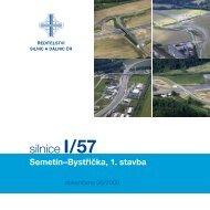 Silnice I/57 Semetín–Bystřička, 1. stavba - Ředitelství silnic a dálnic