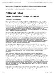Politik und Polizei : ausgedruckt bei literaturkritik.de