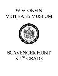 Scavenger Hunt -- Grades K-1 - Wisconsin Veterans Museum
