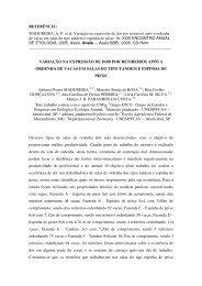 MADUREIRA, AP et al. Variação na expressão de dor por ... - ETCO