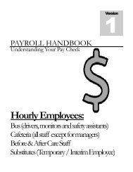 Payroll information for hourly employees - Franklin County Schools