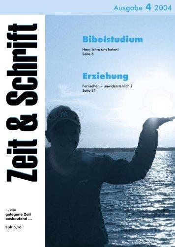 Heft 4/2004 - Zeit & Schrift