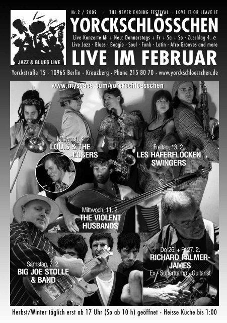 LIVE IM FEBRUAR - Yorckschlösschen
