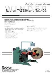 15 TA1250, TA1400 precision winders v3.0.indd - Roblon A/S