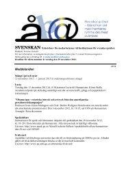 Svenskan 47/12 - Institutionen för svenska språket - Göteborgs ...