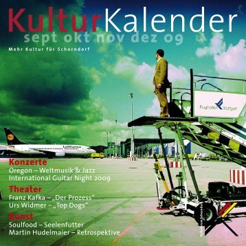 sept okt nov dez 09 - Kulturforum Schorndorf