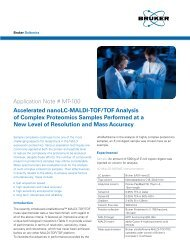 Application Note # MT-100 Accelerated nanoLC-MALDI ... - Bruker