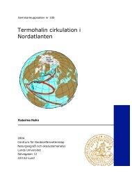 Termohalin cirkulation i Nordatlanten - Institutionen för naturgeografi ...