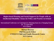 Housing and Social Supports for People with Intellectual Disabilities