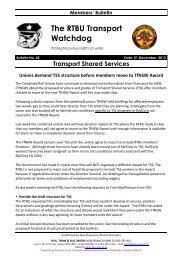 Transport Watchdog Bulletin 42 - Rail, Tram and Bus Union of NSW