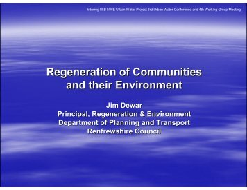 Regeneration of Communities and their Environment - Urban Water