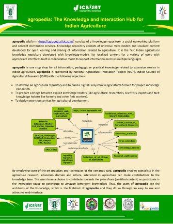 Agropedia Brouchure - Vasat - Icrisat
