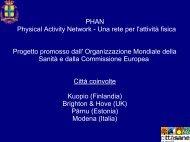 Scarica la presentazione del progetto PHAN - Comune di Modena