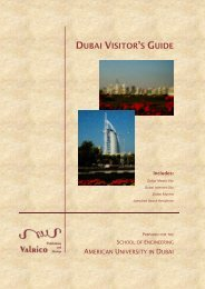 visitor's guide - School of Engineering - American University in Dubai