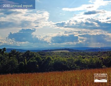 2010 annual report - Columbia Land Conservancy