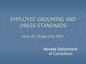 officer grooming standards - Nevada Department of Corrections